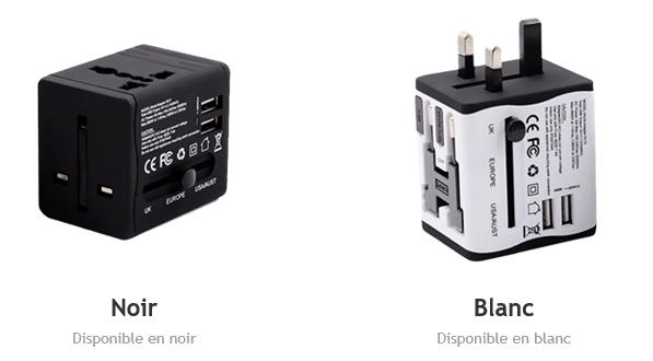adaptateur disponible en 2 couleurs